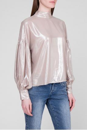 Женская бежевая блуза 1