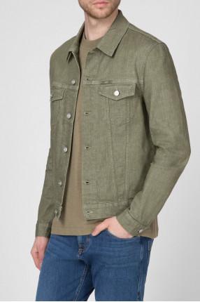 Мужская зеленая джинсовая куртка 1
