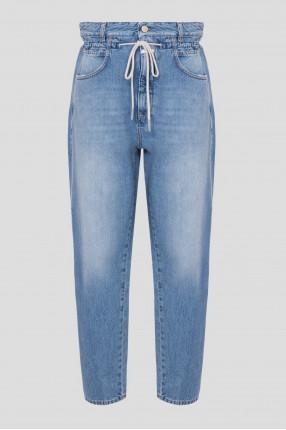 Женские голубые джинсы Relaxed