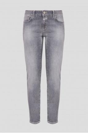 Женские серые джинсы Slim