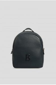Женский темно-синий кожаный рюкзак