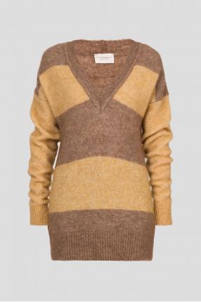 Женский коричневый пуловер