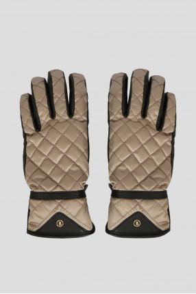 Женские бежевые перчатки