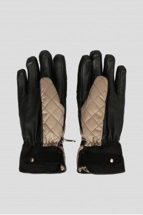 Женские бежевые перчатки 1