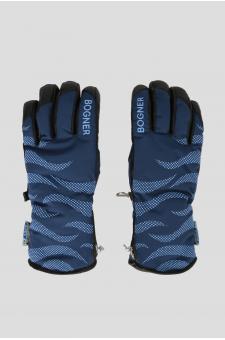 Женские синие перчатки