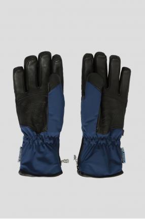 Женские синие перчатки 1