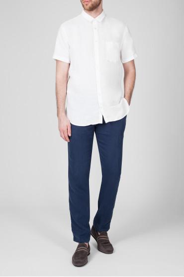 Мужская белая рубашка 5