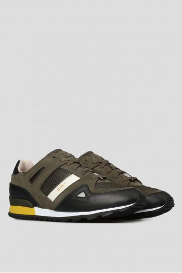 Мужские зеленые кроссовки 2