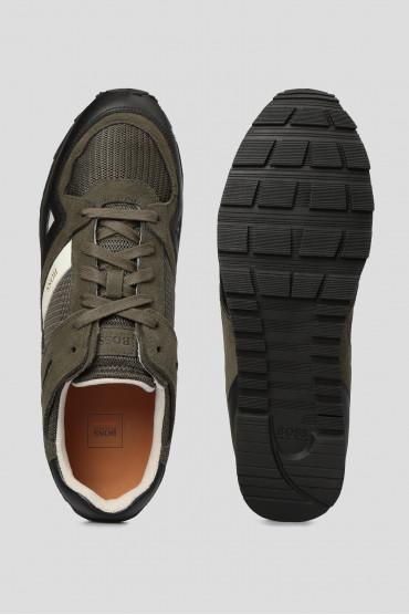 Мужские зеленые кроссовки 4