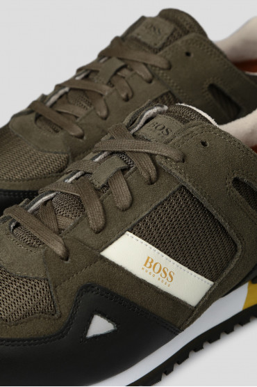 Мужские зеленые кроссовки 5