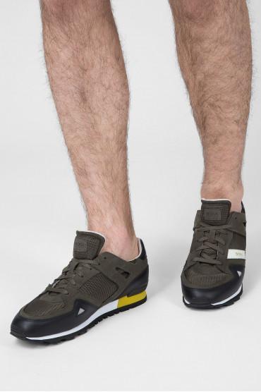 Мужские зеленые кроссовки 6