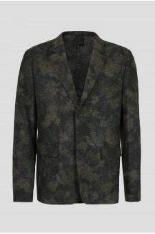 Мужской темно-зеленый пиджак Felted Jacket