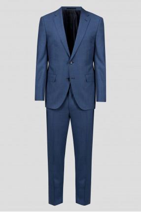 Мужской синий костюм (пиджак, брюки)