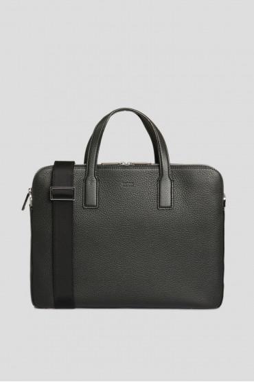 Мужской черный кожаный портфель 1