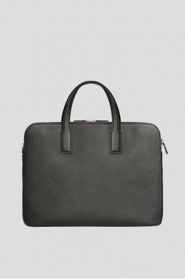 Мужской черный кожаный портфель 3
