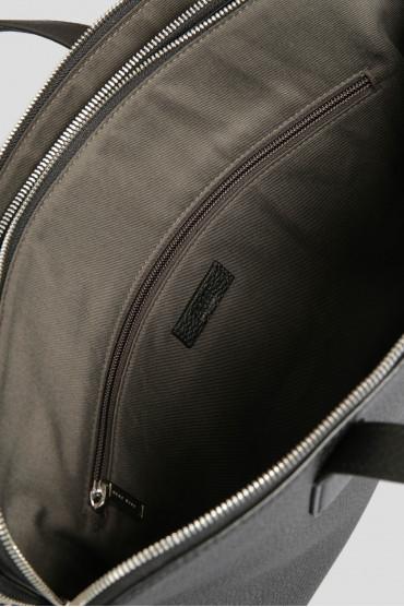 Мужской черный кожаный портфель 4