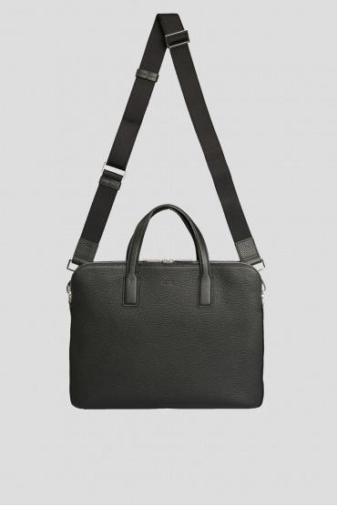 Мужской черный кожаный портфель 5