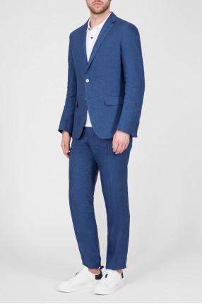 Мужской синий костюм (пиджак, брюки) 1