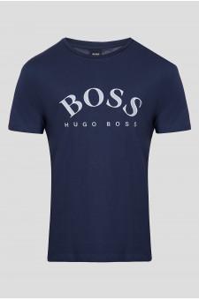 Мужская темно-синяя футболка