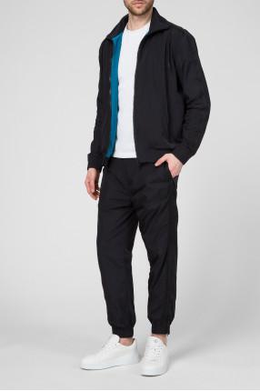 Мужской черный спортивный костюм (ветровка, брюки) 1