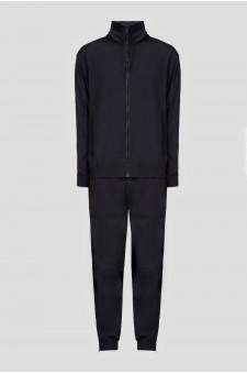 Мужской черный спортивный костюм (ветровка, брюки)