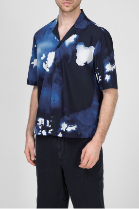 Мужская темно-синяя рубашка 1