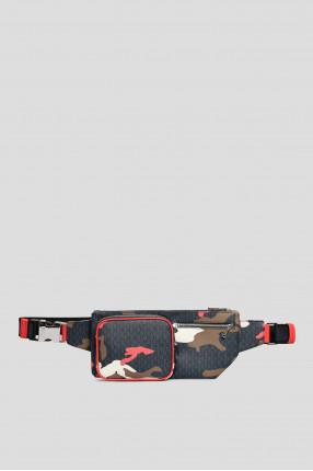 Мужская поясная сумка с узором