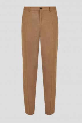 Мужские бежевые шерстяные брюки