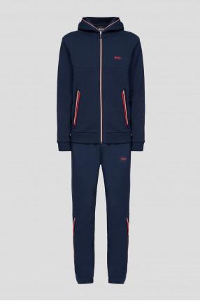 Мужской темно-синий спортивный костюм (кофта, брюки)