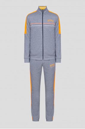 Мужской голубой спортивный костюм (кофта, брюки)