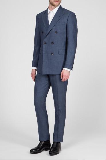 Мужской синий костюм (пиджак, брюки) 2