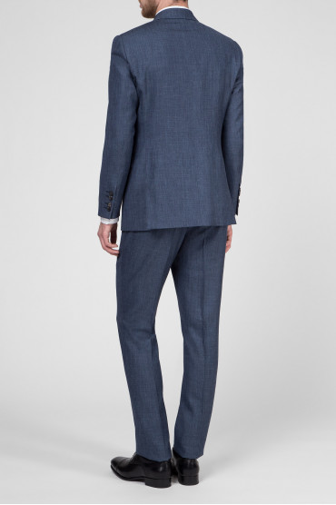 Мужской синий костюм (пиджак, брюки) 3