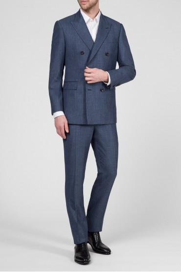 Мужской синий костюм (пиджак, брюки) 5