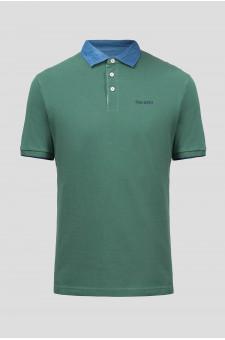 Мужское зеленое поло CHAMBRAY