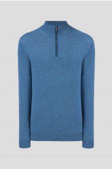 Мужской голубой кашемировый свитер