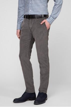 Мужские серые вельветовые брюки 1