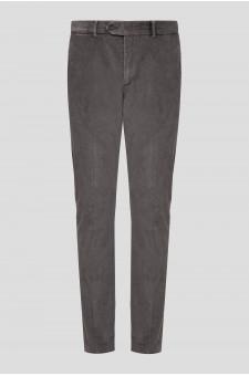 Мужские серые вельветовые брюки