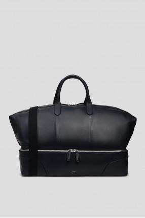 Мужская темно-синяя дорожная сумка