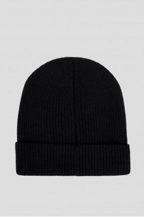 Мужская темно-синяя кашемировая шапка 1