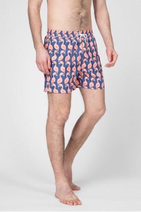 Мужские плавательные шорты с принтом 1
