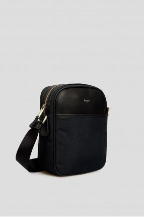Мужская темно-синяя сумка через плечо 1