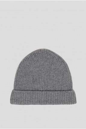 Серая шерстяная шапка