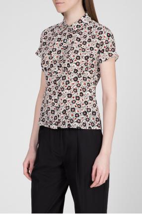 Женская шелковая блуза с узором 1
