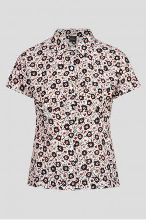 Женская шелковая блуза с узором