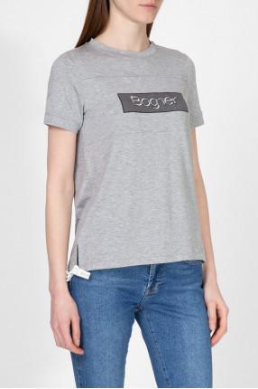 Женская серая футболка  1