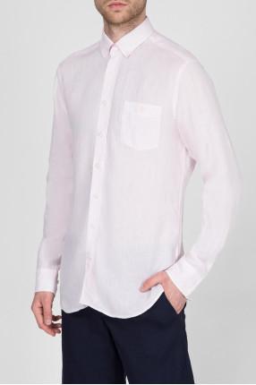 Мужская розовая льняная рубашка 1