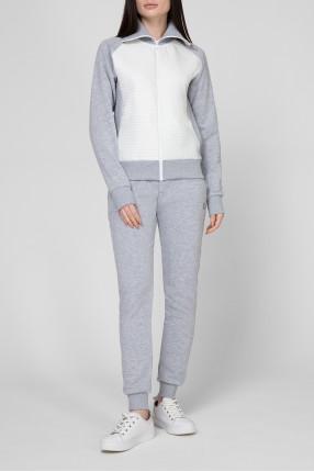 Женский серый спортивный костюм (кофта, брюки) 1