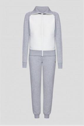 Женский серый спортивный костюм (кофта, брюки)