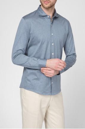 Мужская синяя рубашка 1