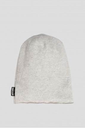 Женская серая шерстяная шапка 1